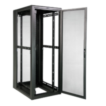 Great Lakes Case Cabinet 79x30x42 Mesh Front Rear Doors Black